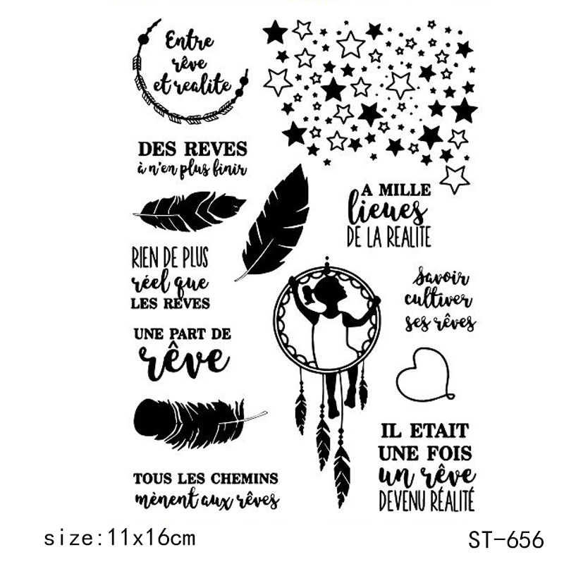 ZhuoAng Cute wind chimes Clear Stamps and Cutting Dies Set for Scrapbooking Photo Album Card Making DIY Decoration Supp in Stamps from Home Garden