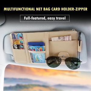 Image 3 - Universal Auto auto Sonnenblende Veranstalter Halter Lagerung Tasche TydyingCase für Karte Gläser Auto Zubehör Visier Multifunktionale Lagerung