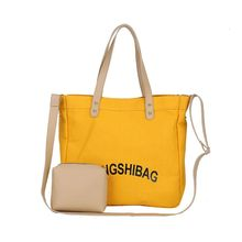 Fashion Women Canvas Shoulder Bag Ladies Casual Handbag Crossbody Tote Large Shoulder bag yubird brand simple canvas casual tote fashion women shoulder bag female handbag fresh all match cloth tote bag handbag