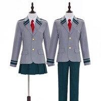 Anime Boku no Hero Academia Midoriya Izuku Bakugou Katsuki Gray My Hero Academia School Uniform Cosplay Costume Halloween