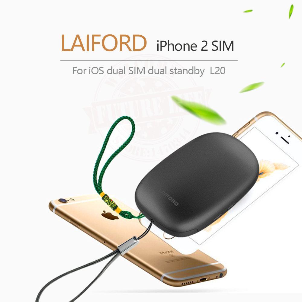 imágenes para 2017 Bluetooth Dual 2 Sim Doble Modo de Espera Extender Adaptador SIM L10 LAIFORD GoodTalk S No Jailbreak para iPhone5-7 y iOS7-10.3.3