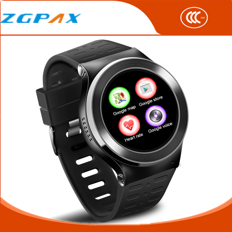 2016 New Arrivel Android Wear Wearable Devices Heart Rate GPS Watch Play Google Store Map Screen