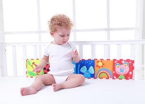 Image 2 - BOLAFYNIA Bé sơ sinh Sách vải 2 mặt màu trắng đen đầu giường Sách vải trẻ em Đồ chơi Giáo Dục