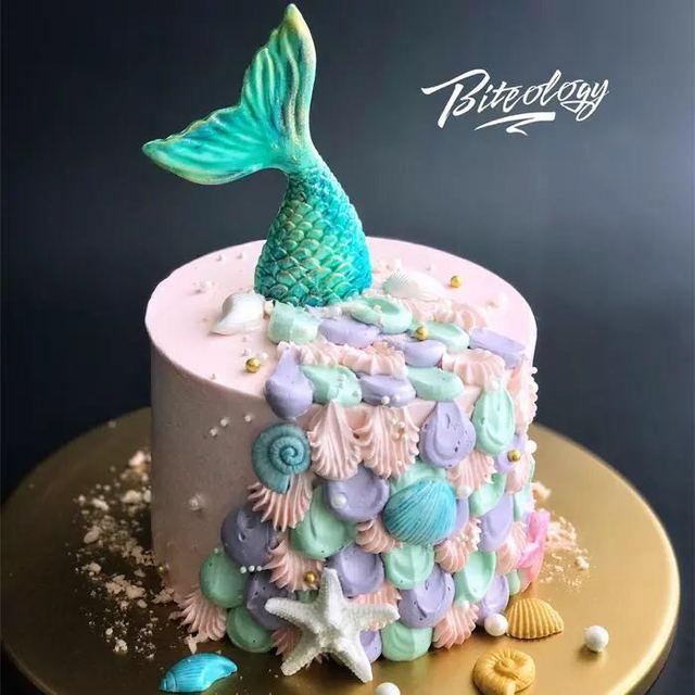 Hohoblanc Mermaid Tail Silicone Mold Fondant Cake Mold