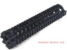 Горячая продажа сплит Тип 9.5 дюймов Пикатинни алюминиевый цевье железнодорожной системы черный для AEG М4 / М16