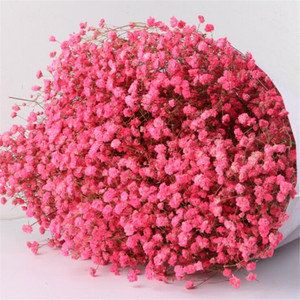 Image 2 - 1 Bundle 40 50CM DIY Gypsophila Flower Wedding Party Photo Props Pure natural plant Dried Flowers Cafe Library Home decoration