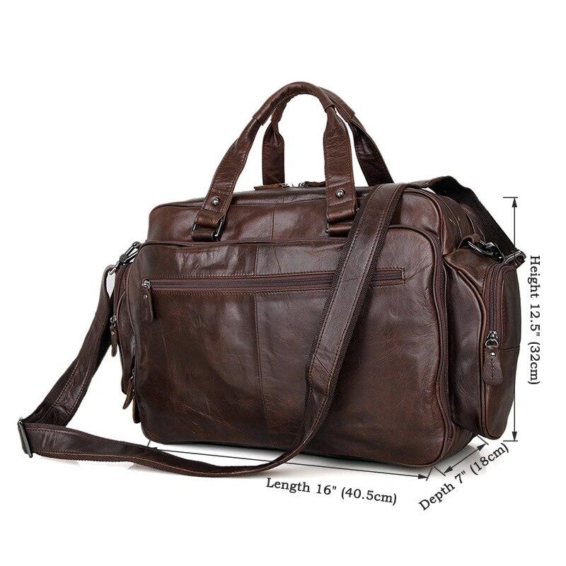 Taschen Handtaschen Büro Leder 16 Brown Laptop 7150q Aktentaschen Bag Zoll Männer Aktentasche Vollnarben Für Echtem Umhängetasche wXYYRI