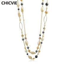 Женское Ожерелье с бусинами chicvie винтажное ожерелье натуральным