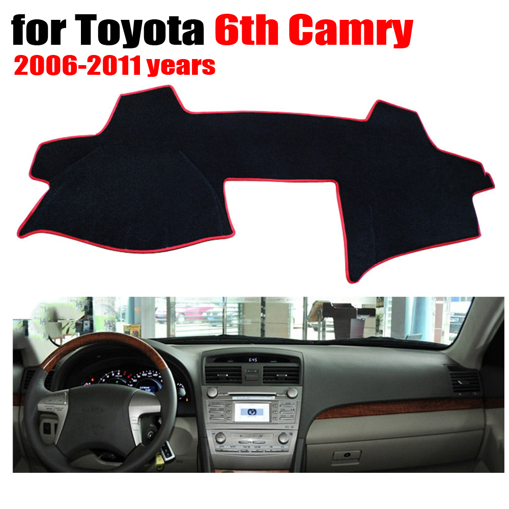 car dashboard cover mat for toyota 6th camry 2006 2011 years left hand drive dashmat pad dash. Black Bedroom Furniture Sets. Home Design Ideas