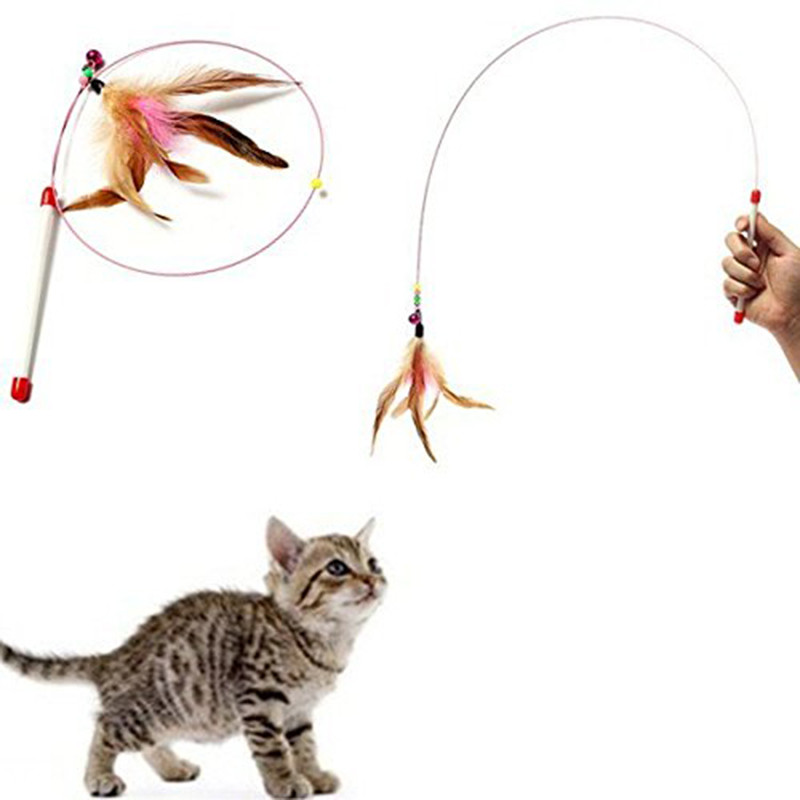 Dropping Shipping 15 Types Cat Toys Pet Cat Toy Plastic,steel Wire,feather Teaser Wand,toy For Cats Interactive Christmas Cat