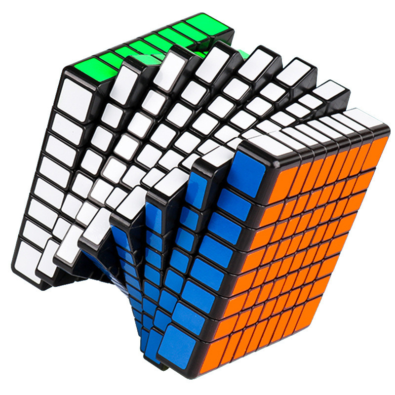 MOYU 69MM MF8 8X8X8 Magic Cube 3 Colors Puzzle Professional Speed Cube Magico Educational Toy For Children Cube With Free Stand