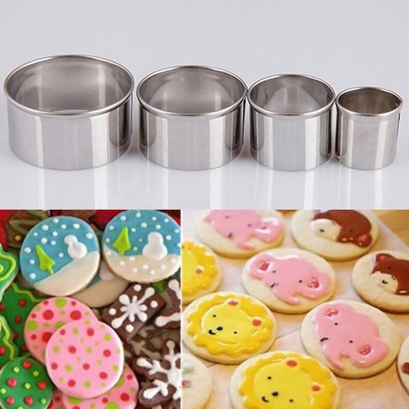 ᗚ4 unids multi-tamaño redondo del círculo del metal pasteles ...