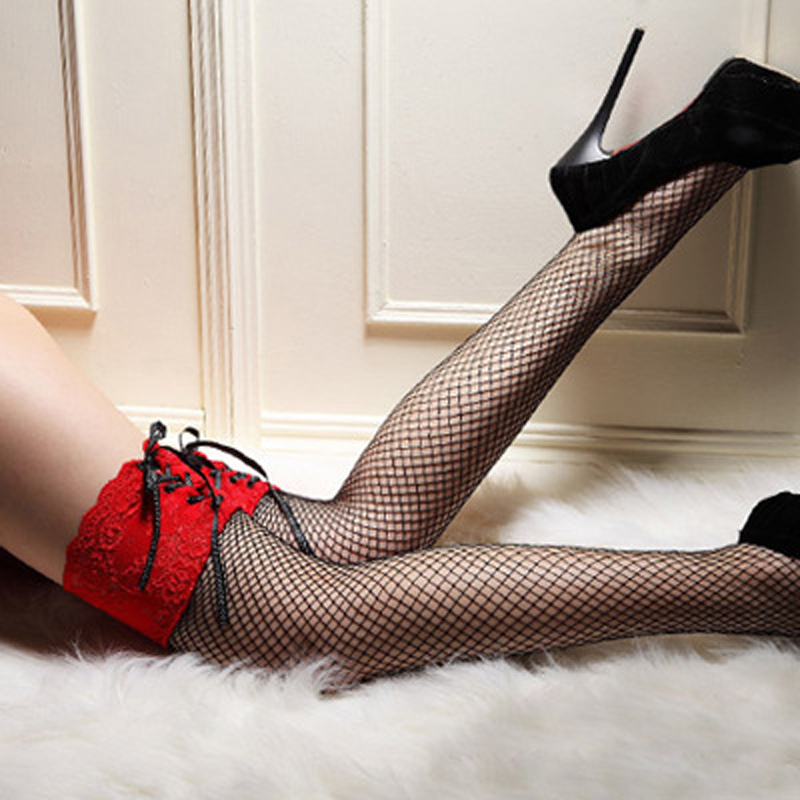cf5cc8dde Hot Sale Lace Mesh Net Sexy Stockings Tight Thigh Highs Hosiery Sheer Top  High Stockings For Women Ladies CC8831