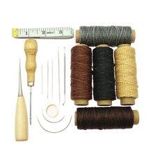 Кожаные ремесленные ручные шовные инструменты, 16 шт. набор для ремонта кожи W Швейные иглы ручной подарок домашний ручной работы аксессуары кожаные изделия