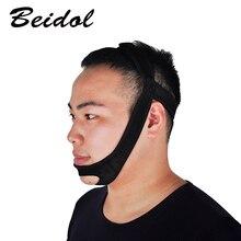 3pcs Black Color Snore Belt Stop Snoring Sleep Apnea Chin Support Strap for Woman Man Care