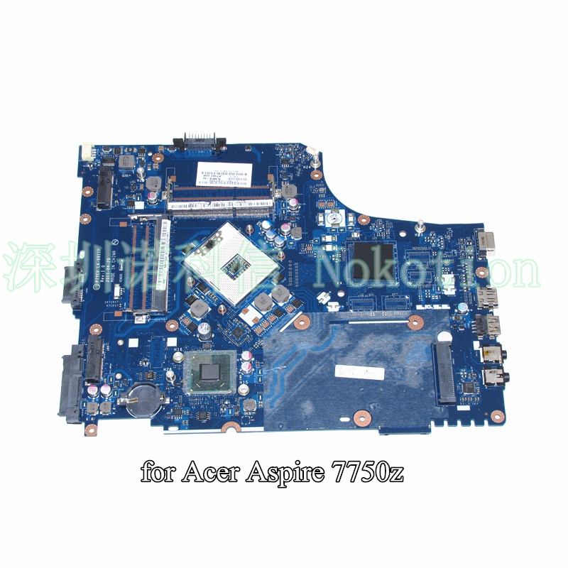 NOKOTION MBRN802001 MB.RN802.001 For ACER aspire 7750 7750Z laptop motherboard HM65 DDR3 P7YE0 LA-6911P Intel HD Graphics nokotion sps v000198120 for toshiba satellite a500 a505 motherboard intel gm45 ddr2 6050a2323101 mb a01