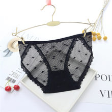 5b5241141 Ultra-fino Cuecas Sem Costura Das Mulheres Roupa Interior de Malha  Transparente Calcinha de Renda