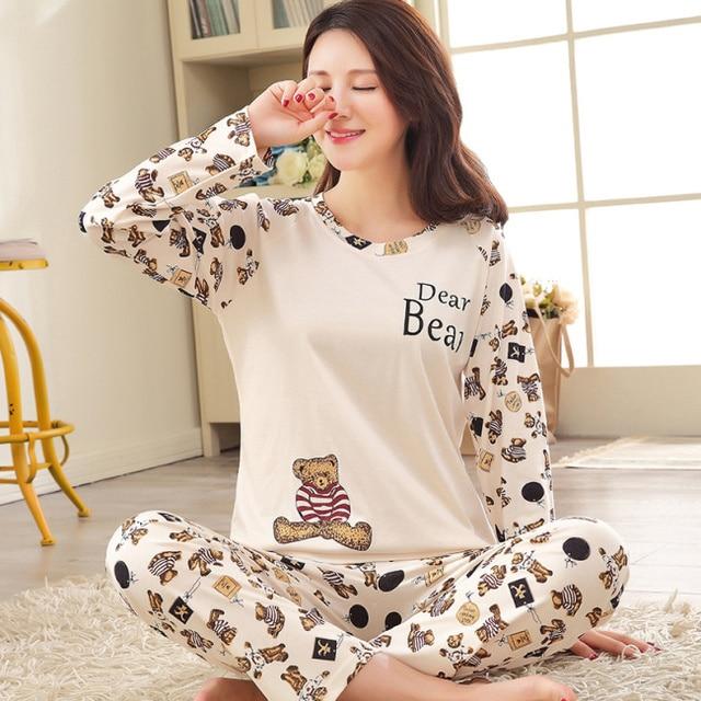 2016 Autumn Striped Pyjamas Cotton Couple Pajamas Set Women Sleepwear Pajama Sets Pijamas Mujer Lover Pyjamas Homewear Clothing