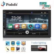 """Podofo 2 Din Auto Lettore Multimediale WIFI Bluetooth USB Radio Stereo 2 din 7 """"Universale Specchio Link Autoradio Audio macchina Fotografica di Backup"""