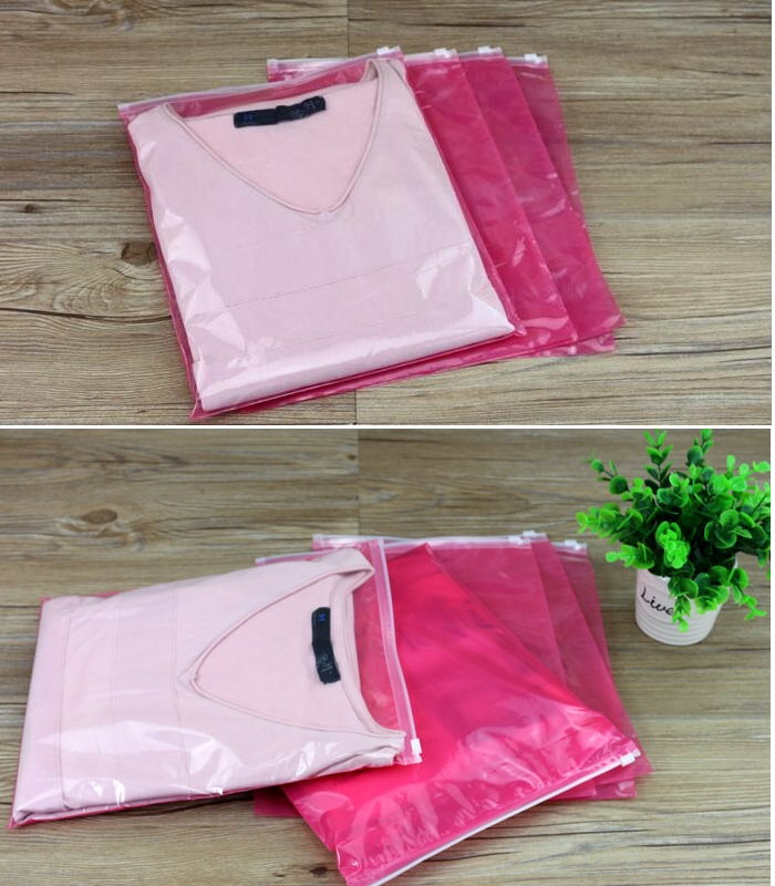 45 60cm Large Garments Travel Bag For Clothes Shoes Underwear Waterproof Plastic Zipper Bags In Gift Wring Supplies From Home Garden On