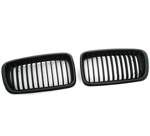 Euro Style Matte Black Front <font><b>Grille</b></font> for <font><b>BMW</b></font> <font><b>E38</b></font> 99-01 7 Series image