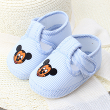 0-1 year baby print mickey Baby Shoes Infant Soft Cotton toddler shoes Girl Boy Anti-slip Skid-proof Shoes First Walkers shoes