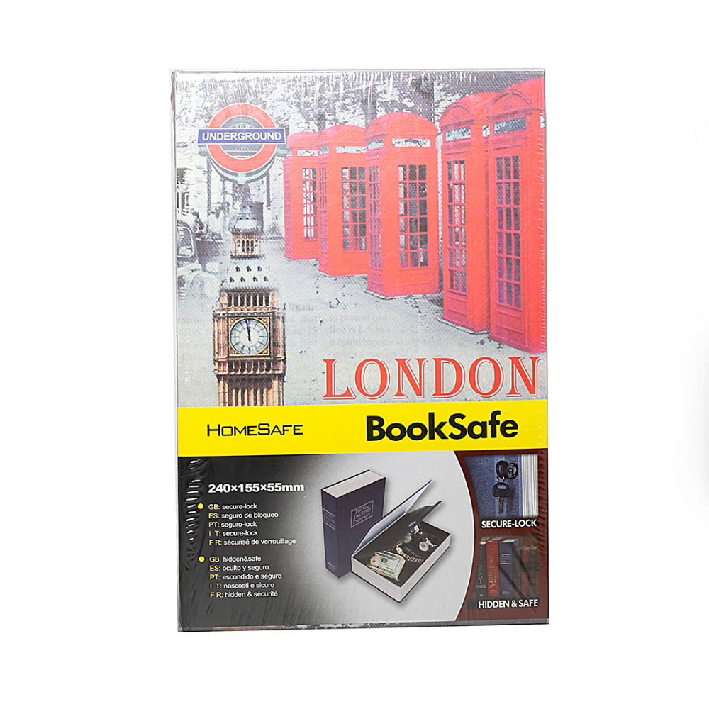 Secret Book Hidden Safe with Key Lock Book Safe Secret Security Safe Lock Cash Money Jewellery Locker Box HOLY BIBLE LONDON