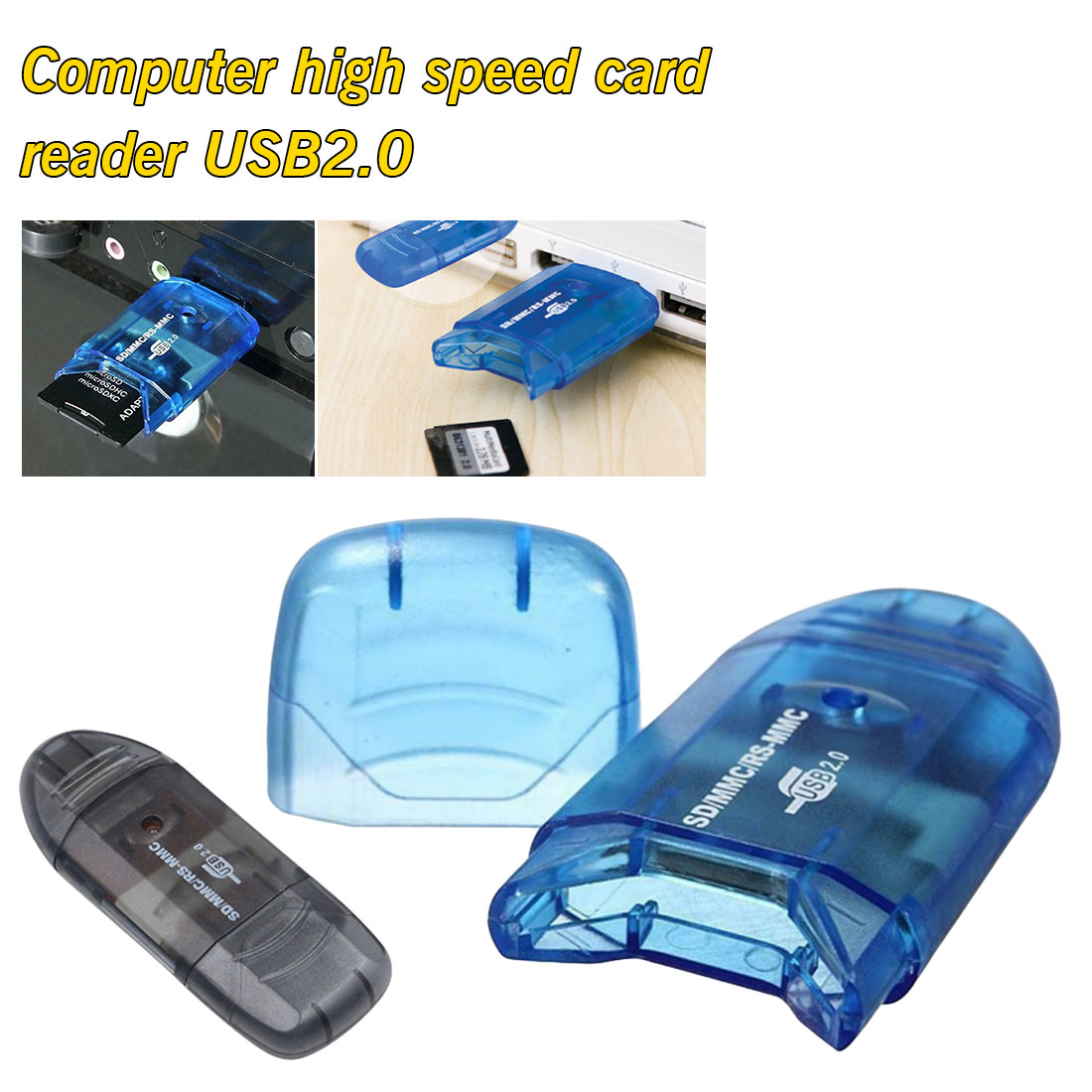 1 USB 2.0 Multi Memory Card Reader Adapter Connector For Micro SD MMC SDHC TF M2 Memory Stick MS Duo RS-MMC