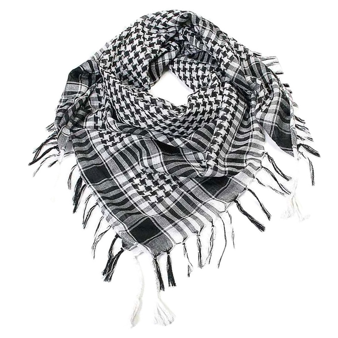 New Arab Military Tactical Scarf Hijab Shawl Kafiya Wrap Hot Grid Scarves For Female Male Gifts Fringed Houndstooth Square Scarf