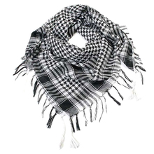 New Arab Military Tactical Scarf Hijab Shawl Kafiya Wrap Hot Grid Scarves For Female Male Gifts Fringed Houndstooth Square