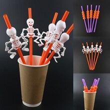 Пластиковая соломинка декоративная Тыква вампир чашка Хеллоуин Скелет Вечерние развлечения