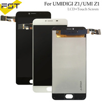 Black/White For Umidigi Z1 / UMI Z1 LCD Display+Touch Screen 100% Tested LCD Digitizer Glass Panel Replacement +tools+adhesive