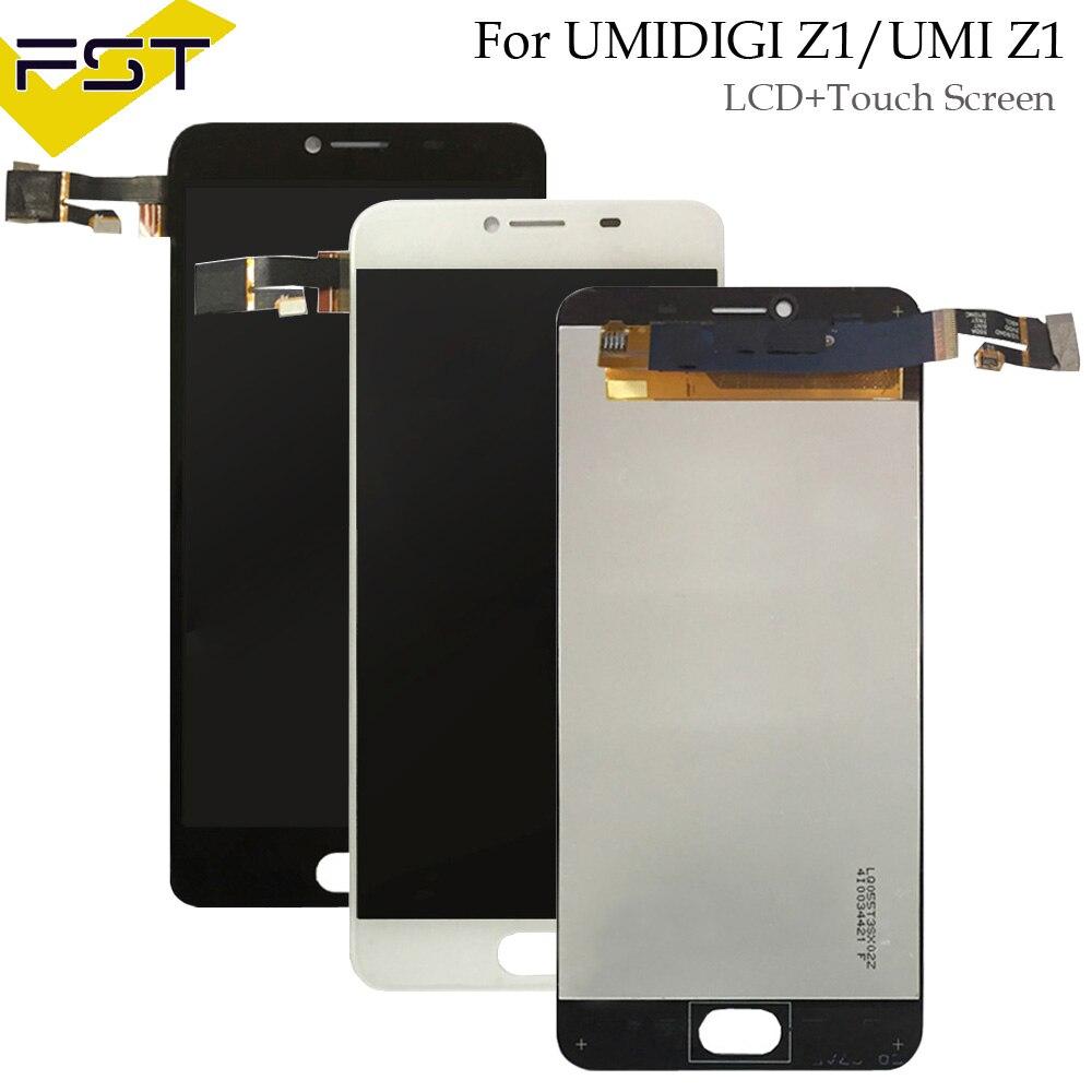 Schwarz/Weiß Für Umidigi Z1/UMI Z1 LCD Display + Touch Screen 100% Getestet LCD Digitizer Glas Panel ersatz + werkzeuge + adhesive