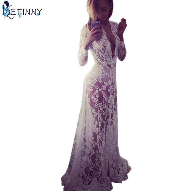 Efinny verano sexy mujeres Encaje noche Vestidos vestido formal Maxi ...