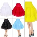 Vintage Dress Short Wedding Party Retro Swing Tutu 50s Underskirt Pin Up Crinoline Rockabilly Petticoat Skirt