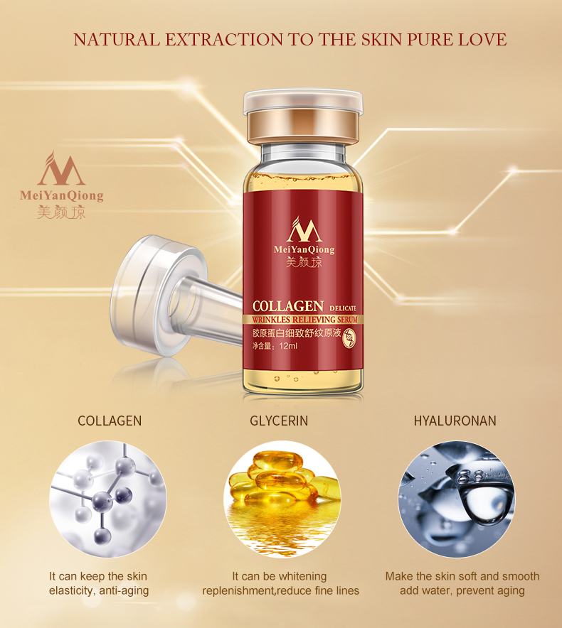 Meiyanqiong Collage Argireline collagen peptides anti wrinkle Serum for the face anti-aging