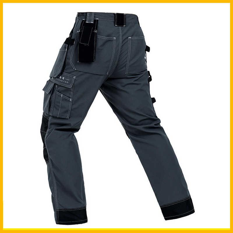 Resistente Mujer Overol Multi Pantalones Hombres Calidad Los De Ropa Alta Trabajo Durable Mecánico Gris Al Desgaste Bolsillo Seguridad 4ALc5qS3Rj
