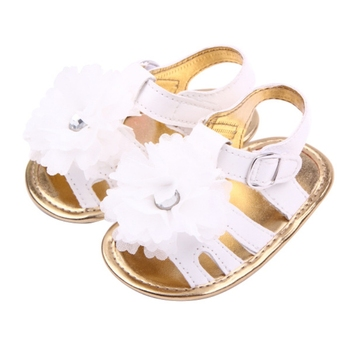 Summer Baby Girls Fashion Sandals Shoes Skidproof Toddlers Infant Baby Flower Shoes PU Leather Shoes