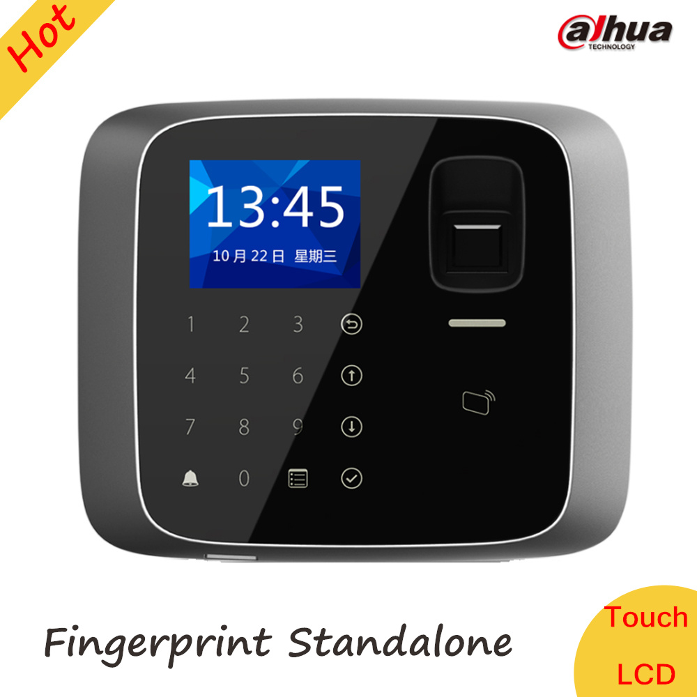 Dahua LCD Fingerprint Standalone Access Control System Card Standalone 30,000 valid cards and 150,000 records ASI1212A-D biometric face and fingerprint access controller tcp ip zk multibio700 facial time attendance and door security control system