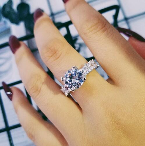 Bague diamant fiançailles