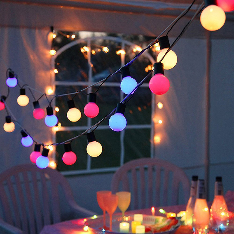 10M 38leds led string light 5CM big ball AC110V 220V Christmas holiday Party festival Decoration indoor outdoor Starry Lights