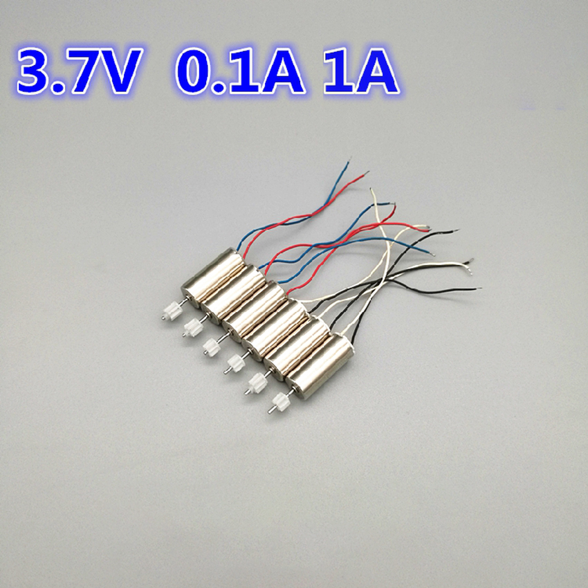 2PCS DC 3.7V 45000RPM High Speed Micro DIY Helicopter 7*16mm Coreless DC Motor