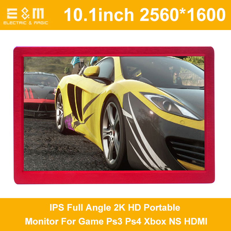 Full New 10 IPS Full Angle 2K HD Portable Monitor For Game Ps3 Ps4 Xbox NS HDMI 2560 * 1600 USB 5V Power With Leather Case