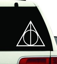 Harry Potter Vinyl Car Window Decal Deathly Hallows Symbol Sticker Magic Color (5.5inches)