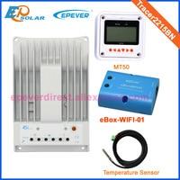 eBOX Wifi 01 Wifi APP connect solar EPEVER MPPT controller 20A MT50 remote meter temperature sensor Tracer2215BN controller