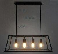 Традиционный освещение Винтаж подвеска лампа накаливания люстра Лофт огни