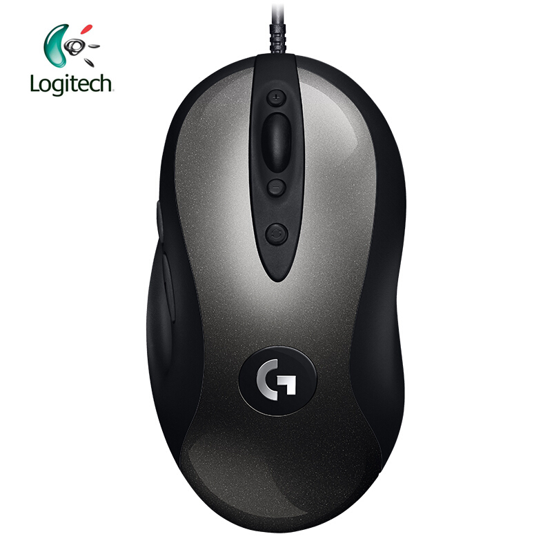Logitech 2018 New Version MX518 Legendary Gaming Mouse with 16000 DPI Optical 400 IPS Classic Fever Level Mouse Legend Reborn image