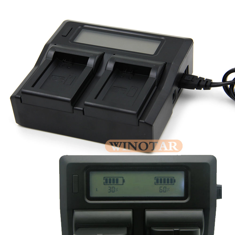 EN-EL3E LCD Dual Fast <font><b>Battery</b></font> <font><b>Charger</b></font> for <font><b>Nikon</b></font> D50 D70 D70s <font><b>D80</b></font> D90 D100 D200 D300 D300S D700 <font><b>Batteries</b></font> <font><b>Charger</b></font> image