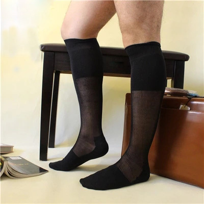 2017 New Style Mens Formal Sheer socks Sexy Male stocking Hose Gay Sock fetish Collection Dress suit Antibacterial Mens sock
