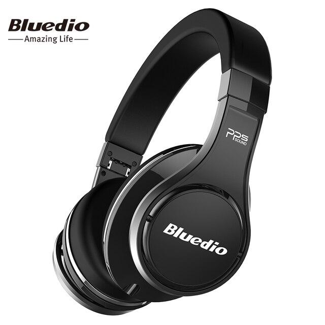 Bluedio U (OVNI) auriculares Bluetooth original Patentado 8 Controladores de Sonido 3D para auriculares HiFi Over-Ear auriculares inalámbricos